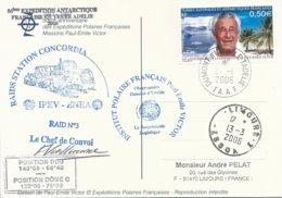 TAAF - Dumont D'Urville-T.Adélie: Carte Illustrée PE Victor Avec Timbre N°417 PE Victor - 27/01/2006 - Franse Zuidelijke En Antarctische Gebieden (TAAF)
