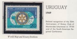 Rotary International 1969 URUGUAY MNH - Rotary, Lions Club