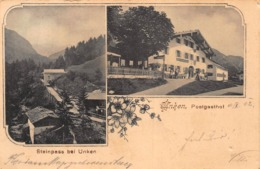UNKEN AUSTRIA ~POSTGASTHOF ~ STEINPASS Bei UNKEN-1902 PHOTO POSTCARD 42315 - Unken