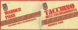 Taccuino Dell'Escursionista - Wander Pass - 1988 - Con Timbri Dei Rifugi E Diploma - Usato - Diplomas Y Calificaciones Escolares