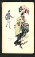 Künstler-AK W. Braun: Herr Und Elegante Dame Mit Hut - Braun, W.