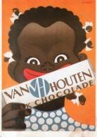VAN HOUTEN CHOCOLAT BIBLIOTHEQUE FORNEY N°15 - Publicité