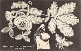Honiton Lace Maker & Lace, Souvenir 1906 - England