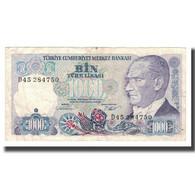 Billet, Turquie, 1000 Lira, L.1970, Undated (1986), KM:196, TTB+ - Turkije