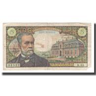 France, 5 Francs, 1966, 1966-11-04, TB, Fayette:61.04, KM:146a - 5 F 1966-1970 ''Pasteur''