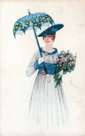 CPA BELGIQUE 1921  - UNE JOLIE FEMME D'UNE RARE ELEGANCE  - - Femmes