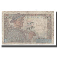 France, 10 Francs, 1944, 1944-01-20, B, Fayette:08.11, KM:99c - 1871-1952 Antichi Franchi Circolanti Nel XX Secolo