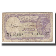 Billet, Égypte, 5 Piastres, L.1940, KM:182h, B+ - Egypte