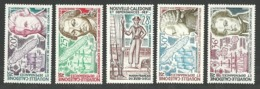 NEW CALEDONIA 1974 SHIPS EXPLORERS DISCOVERY COOK DUMONT D'URVILLE SET MNH - New Caledonia