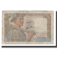 France, 10 Francs, 1944, 1944-06-22, TB, Fayette:08.12, KM:99e - 1871-1952 Antichi Franchi Circolanti Nel XX Secolo