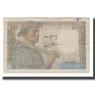 France, 10 Francs, 1944, 1944-06-22, B+, Fayette:08.12, KM:99e - 1871-1952 Antichi Franchi Circolanti Nel XX Secolo