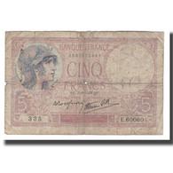 France, 5 Francs, 1939, 1939-08-03, B+, Fayette:04.04, KM:83 - 1871-1952 Antichi Franchi Circolanti Nel XX Secolo