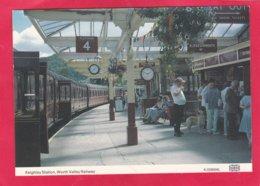 Modern Post Card Of Transport,Railway,Keighley Station,Worth Valley Railway,X38. - Bahnhöfe Mit Zügen