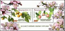 Kazakhstan 2018.Red Book. Trees Of Kazakhstan.Block. - Kazakhstan