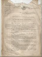 JC ,trésorerie Nationale, AN 7, 1798, Liste Des Signatures Des Bons Au Porteur De 20 Et 25 Francs , Frais Fr 1.95 E - Décrets & Lois