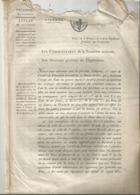 JC , Trésorerie Nationale, AN 7, 1798, Arrêté Du Directoire: Usage Bons Au Porteur De 20 Et 25 Francs , Frais Fr 1.95 E - Décrets & Lois