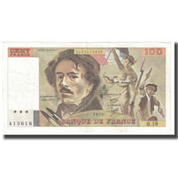 France, 100 Francs, Delacroix, 1979, P. A.Strohl-G.Bouchet-J.J.Tronche, 1979 - 1962-1997 ''Francs''