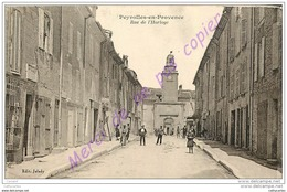 13. PEYROLLES EN PROVENCE . Rue De L'Horloge . CPA Animée . - Peyrolles