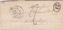 LAC De Sennecey-le-Grand (71) Pour Rully (71) - 30 Novembre 1839 - CAD Rond Type 13 14 15 + ML 70 St-Gengoux + TM2 + 1D - 1801-1848: Precursori XIX
