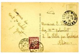 MANCHE CP 1926 MONT ST MICHEL => TAXE A CONDRIEU RHONE - 1921-1960: Modern Period