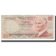 Billet, Turquie, 20 Lira, L.1970 (1974), KM:187b, TTB - Turkije