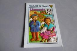 """BELLE ILLUSTRATION...CARTE """"BOMBEE""""...FOLKLORE DE FRANCE ...LE LIMOUSIN - Zonder Classificatie"""
