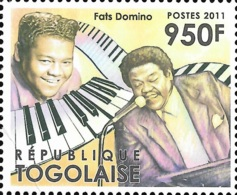 Togo Fats Domino Music Piano 1v Stamp Set Michel:4286 - Célébrités