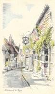 Mermaid Street - Rye - Illustration - Pencil Sketch Postcard - Rye
