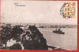 MALTA- Grand Harbour - Original Post-card Circulated 1923-scans Recto Verso-Paypal Free - Malta