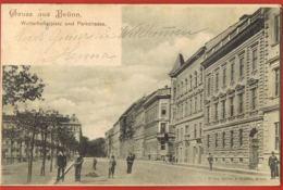 Gruss Aus BRUNN- TCHEQUIE- Winterholler -Platz Und Parkstrasse - Original Post-card Circulated 1900- -scans Recto Verso- - Tschechische Republik