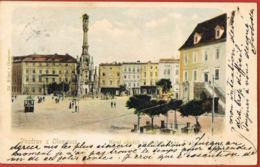 Pozdrav Z Olomouce -Horni Namesti Se Sochen Neisy- Trojic-TCHEQUIE-MORAVIE- Original Post-card Circulated 1901 - Repubblica Ceca