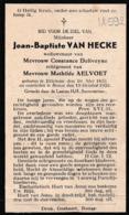 Etichove, Etikhove, Ronse, Renaix, 1933, Jean Van Hecke, Deliveyne, Aelvoet - Devotieprenten