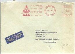 LETTER 1980  AUBERVILLIERS - EMA (Print Machine)