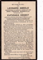 Klerken, Clercken, 1931, Leonard Abeele, Sonneville, Desmet - Devotieprenten
