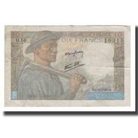 France, 10 Francs, 1943, 1943-09-09, TB+, Fayette:08.09, KM:99d - 1871-1952 Antichi Franchi Circolanti Nel XX Secolo