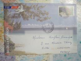 2 Lettres Illustrées De La Réunion 2004-2007 - Postmark Collection (Covers)