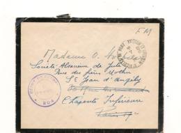 FRANCE 1940  ENVELOPPE DE ST NICOLAS DU PORT  DU 4/6/1940 POUR ST JEAN D'ANGELY AVEC CACHET DE DÉPÔT DE GUERRE - Marcophilie (Lettres)