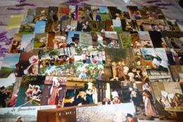LOT DE 125 CARTES NORMANDIE...PRINCIPALEMENT FOLKLORE...COSTUMES..ETC - Postcards
