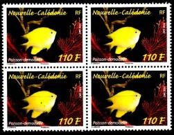 Nouvelle Calédonie 2014 Poisson Demoiselle ( Bloc De 4 ) - Nueva Caledonia