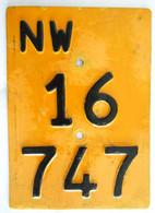 Velonummer Mofanummer Nidwalden NW 16747 (für Vignette Ab 1985) - Plaques D'immatriculation