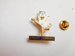 Superbe Pin's En EGF , Judo , Banque Crédit Lyonnais - Judo
