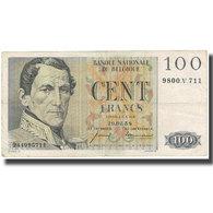 Billet, Belgique, 100 Francs, 1958-02-20, KM:129c, TB - [ 2] 1831-... : Regno Del Belgio