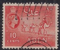 Aden 1953 – 63 QE2 10ct Orange Used SG 50 ( J1199 ) - Aden (1854-1963)
