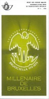 Feuillet N° 3 De 1979 - Poste Belge - Belgium - Millenaire De Bruxelles - Documents Of Postal Services