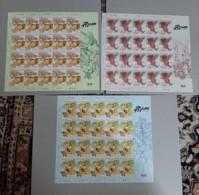 2019 Malaysia Sour Fruit Food Flower Flora Plant Tree Combo Stamp Set Sheet Sheelet 3v - Malaysia (1964-...)