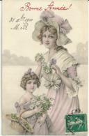 Bonne Annee Femme Fille Fleurs 75401 - New Year