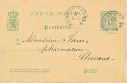 Entiers 5 Cent Trois Vierges 10 10 85 Vers Clervaux - Postwaardestukken