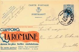 Publibel 3, 1933 – Champoing La Romaine - Postwaardestukken