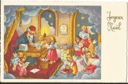 JOYEUX NOEL  ILLUSTRATEUR FABIG DISTLING  PERE NOEL  ENFANT ANGE  KINDER ENGEL POUPEE CHEVAL CADEAUX LETTRE - Kerstmis