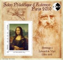 France 2019 Bloc CNEP N°82 LEONARD DE VINCI - LA JOCONDE - CNEP